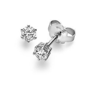 six prong stud earrings with Diamonds