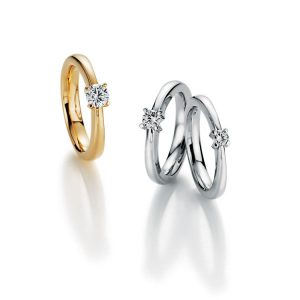 engagements rings with Diamonds in yellowgold and whitegold